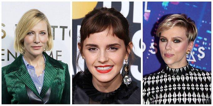 Jaký účes frčí mezi celebritami? Zkuste mikádo, ofinku či pixie cut