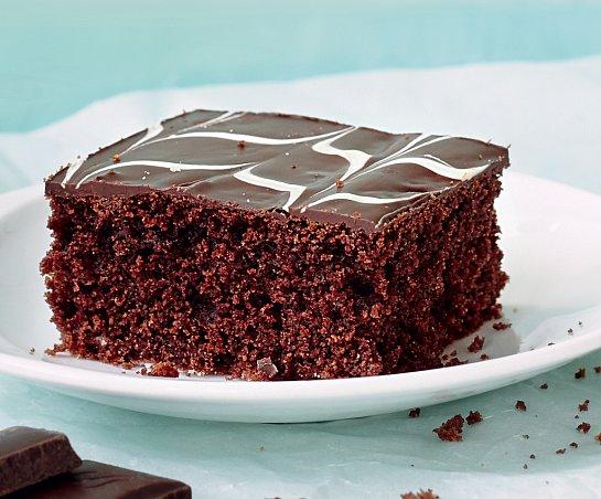 Čokoládový koláč s polevou