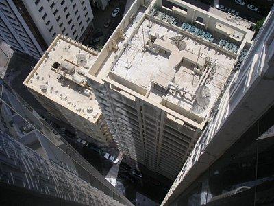 Pohled shora z Hiltonu