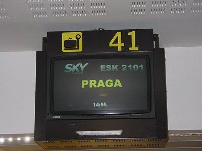 Před odletem do Prahy