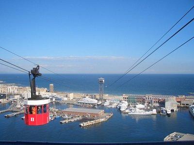 Z přístavu vede lanovka na kopec Montjuic