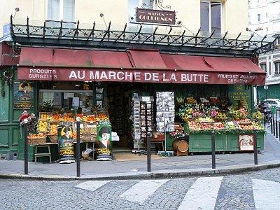 Marché de la butte - Zde se natáčel film Amélie z Monmartru