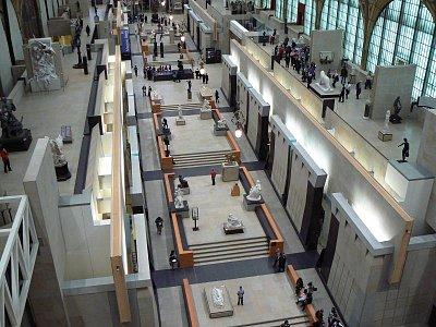 Musée orsay pohled ze shora