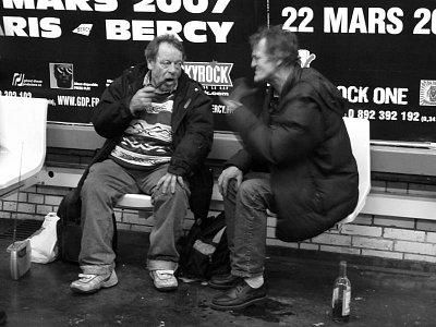 Bezdomovci v metru