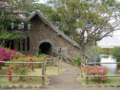 Vchod do ptačího parku Casela