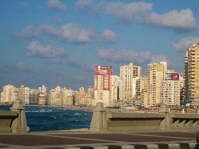 Alexandria nedaleko ctvrti Montazah (nahrál: elen)