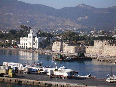 Hlavní město Kos  - Pohled z paluby lodě (nahrál: Libor)