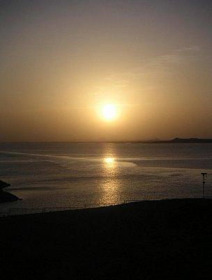 Východ slunce před chrámy v Abú Simbel (nahrál: admin)