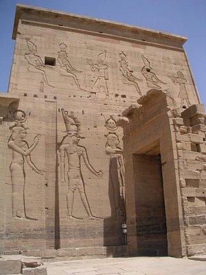 Pravá část 1. pylonu chrámu bohyně Ísidy (nahrál: admin)