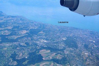 Pohled z letadla - Letecký pohled na Lausanne (nahrál: Máca)