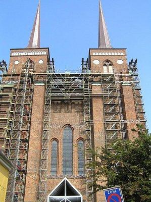 lešení na katedrále v Roskilde (nahrál: admin)