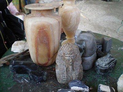 Výrobky z alabastrové dílny (nahrál: lovenka13-Bára)