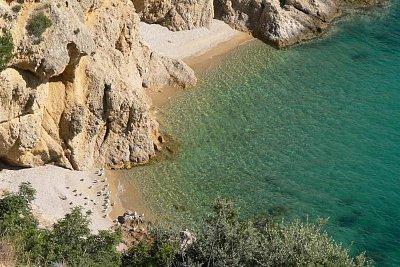 racci na plážičce nepřístupné z pevniny (nahrál: Alena Melicharová)