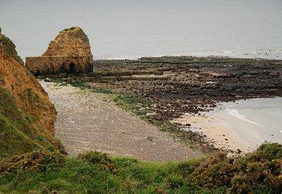 Point du Hoc - Místo, kde se vylodili američtí rangers. (nahrál: Blanka Sadílková)