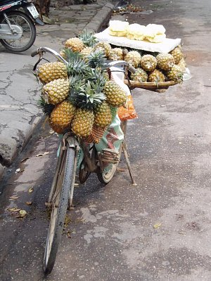 Hanoj-pojízdný obchod s ananasem (nahrál: admin)