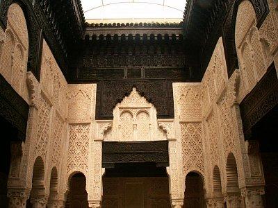 Medersa Bou Inania - Hlavní památka Salé byla založena roku 1341 sultánem Abouem El Hassanem a je tedy více méně současníkem medersy Bou Inania v Meknésu a Fesu.  (nahrál: Petr Kubík)