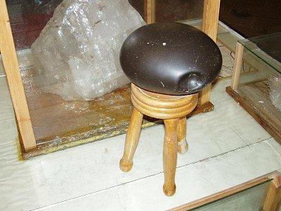 Solotvino - vytěžený meteorit v muzeu těžby soli (nahrál: Kamil Hainc)