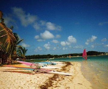 Karibský ostrov Guadeloupe 1995