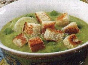 Polévka ze zeleného hrášku