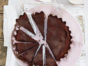 Čokoládový koláč se zmrzlinou