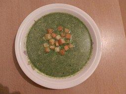 Špenátová polévka s krutony