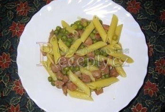 Těstoviny s hráškem