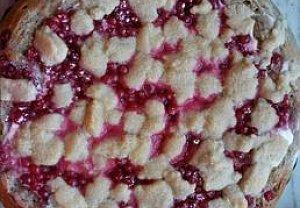 Ovocný koláč z žitné mouky