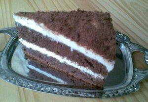 Tvarohový dort se strouhanou čokoládou