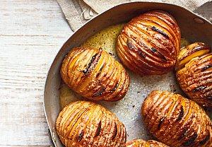 Pečené brambory Hasellback