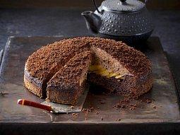 Banánový dort s čokoládovou pěnou