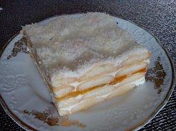 Kokosový nepečený dort s marmeládou / džemem
