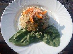 Pečené špenátové rizoto