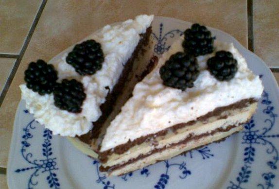 Barevný pudinkový dort