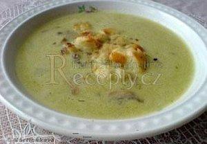 Brokolicová polévka se žampiony