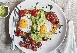 Bramborové rosty se zeleninou a vejcem