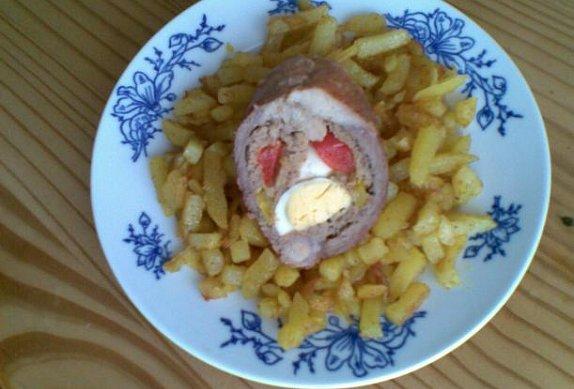 Restované kari brambory