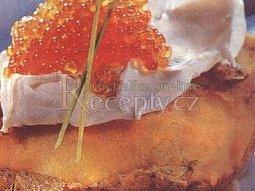 Pečené brambory s kaviárem