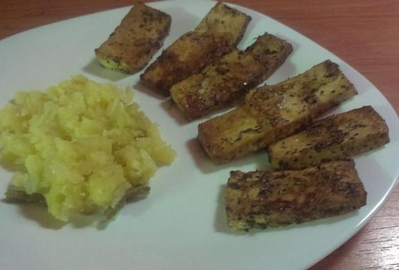 Pečené tofu s citrónovou marinádou