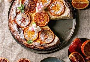 Koláč z červených pomerančů