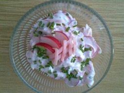 Ředkvičkový salát se šunkou
