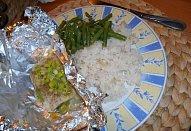 Rybička s fazolkama a rýží