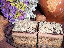 Kávovo-ořechové řezy