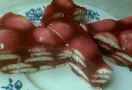 Nepečený malinový dort do misky