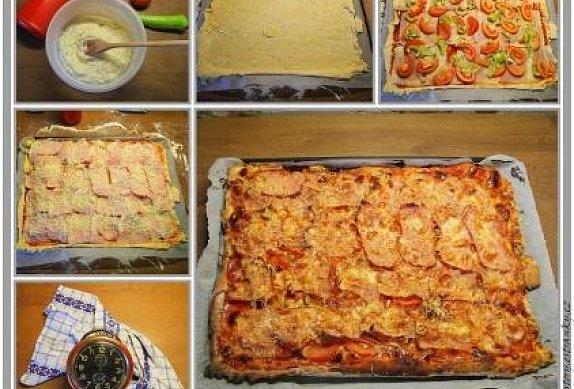 Nekynuté rychlé těsto na pizzu