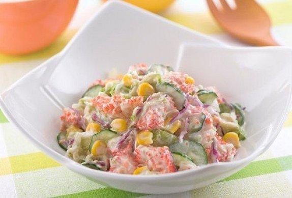 Delikátní krabí salát photo-0