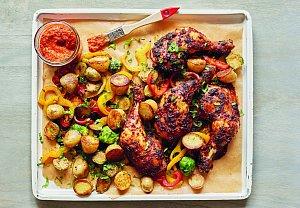 Marinovaná kuřecí stehna se zeleninou