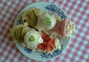 Chlebíčky s vejcem