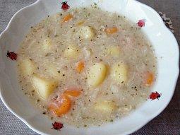 Bramborová polévka bez hub