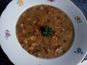 Čočková polévka ze zbylé čočky II.