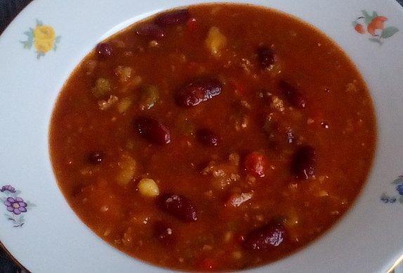 Polévka z mletého masa s fazolemi photo-0